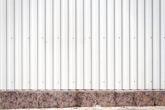Mur cannelé en métal photo libre de droits