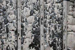 Mur carbonisé Photos libres de droits