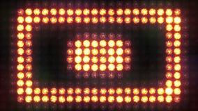 Mur carré de lumière clignotante d'impulsion banque de vidéos