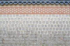 Mur carrelé à Séoul autour de Gyeongbokgung La PIC a été prise en août image stock