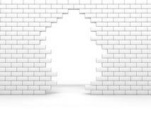 Mur cassé Image libre de droits
