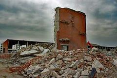 Mur cassé Photo stock