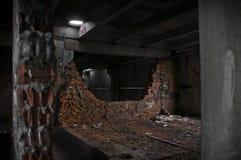Mur cassé par s mort de `de construction Images stock