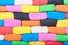 Mur coloré de pâte à modeler Images libres de droits