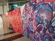 Mur coloré de peinture aux aéroports de Dubaï, Photographie stock