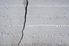 Mur criqué Photo libre de droits