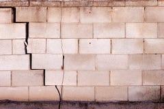 Mur criqué Photos libres de droits