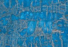 Mur criqué bleu Photo stock