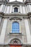 Mur criqué d'église Photos stock