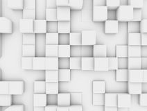 Mur cubique blanc abstrait Images libres de droits