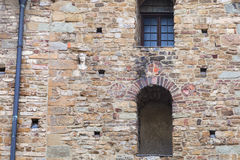 Mur décoré d'église Santa Maria Maggiore Photos libres de droits