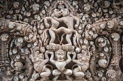 Mur décoré du temple photographie stock libre de droits