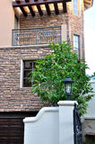 Mur décrit de la construction de villa Image stock