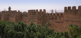 Mur défensif dans Toroudant Photos stock