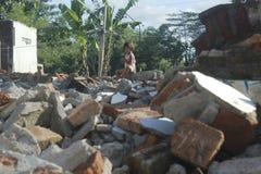 Mur détruit Photos libres de droits