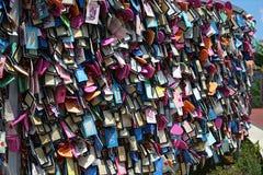 Mur d'étiquette, point de deux amants, Guam Photos stock