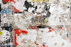 Mur d'affiche image libre de droits