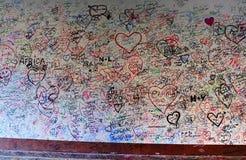 Mur d'amour de maison de Giulietta en Verona Italy Photo stock