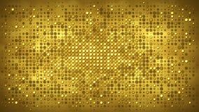 Mur d'or avec le fond d'abrégé sur lumières clignotantes Photographie stock