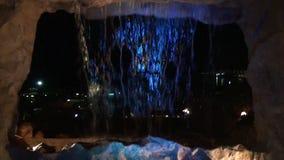 Mur d'eau des chutes artificielles clips vidéos