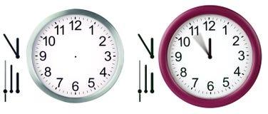 mur d'horloge Photographie stock libre de droits