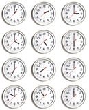 mur d'horloges Images libres de droits