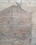 Mur d'immeuble de brique Photographie stock