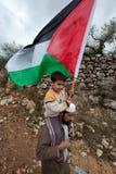 Mur d'Israélien de protestation de Palestiniens image stock