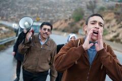 Mur d'Israélien de protestation de Palestiniens image libre de droits