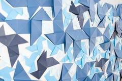 Mur d'origami Photos stock