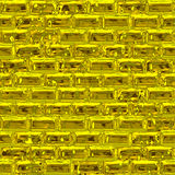 Mur d'or (texture sans joint) Photos libres de droits
