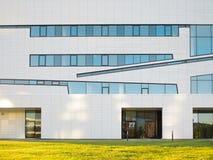 Mur d'une construction moderne Architecture moderne Photographie stock libre de droits