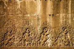 Mur dans Angkor Vat image stock