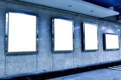 Mur dans le musée avec les trames vides Photographie stock libre de droits