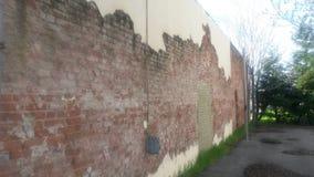 Mur dans les saules Photos libres de droits