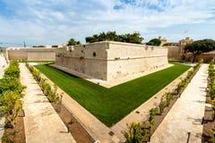 Mur dans Mdina, la vieille capitale de Malte Photographie stock libre de droits