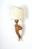 mur décoratif de lampe en bois Image libre de droits