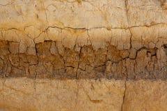 Mur de émiettage de roche d'argile Images stock