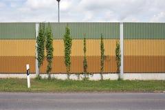 Mur de barrière de bruit Images libres de droits