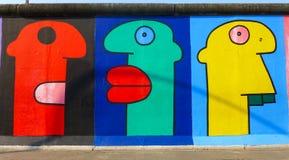 Mur de Berlin, la galerie de côté est, la plus grande galerie d'art extérieure dans le monde sur un segment de Berlin Wall photos stock