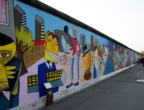 Mur de Berlin peint Photo stock