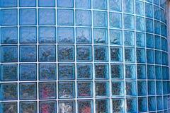 Mur de bloc en verre Photographie stock