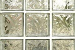 Mur de bloc en verre Photo libre de droits