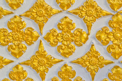 Mur de Bouddha de conception thaïe de configuration de type Photos stock