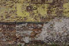 Mur de briques à la Nouvelle-Orléans Photos stock