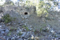 Mur de briques érodé Image stock