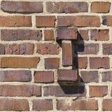 Mur de briques 49, sans joint Image libre de droits