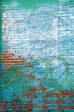 Mur de briques affligé Photo libre de droits