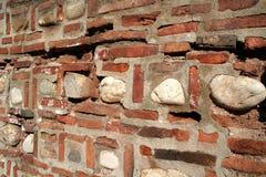 Mur de briques antique Image libre de droits