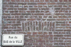 Mur de briques antique France Photographie stock libre de droits